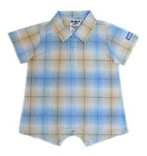 Oshkosh B'gosh Woven Plaid Romper #810 Infant/Baby Boy Clothes, Size: 9 months