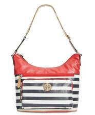 Giani Bernini Women's Canvas Stripe Shoulder Strap Hobo Handbag MSRP $99