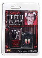 Bloody Blood Tip Fangs Vampire Monster Teeth Dracula Costume Accessory Wolf