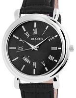Armbanduhr Uhr  Silber Schwarz Unisex Männeruhr Herrenuhr Damenuhr mit Datum