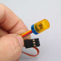 360° Rotation Yellow LED Flash Light For 1:10 1:8 RC Car AX-511Y 9x15mm