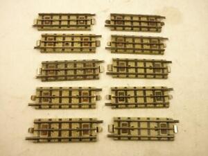 10 x HORNBY DUBLO 3 RAIL QUARTER STRAIGHT TRACKS - EDB¼,                       b