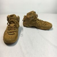 Nike Lebron XII 12 EXT QS Men's 10 Wheat Gold Athletic Basketball Shoes 744287
