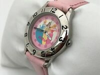 Disney Anna Ladies Watch Pink Genuine Leather Analog Wrist Watch Japan Movt 3ATM