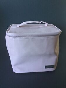 Philosophy Blush Pink Vanity Travel Case Cosmetic or Toiletries Bag with Zip
