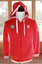 Hudson's Bay Size Small Canada Olympic Hoodie Company Full Zip Jacket Red (AN)