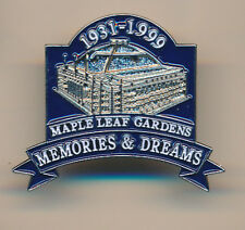 MAPLE LEAF GARDENS MEMORIES AND DREAMS PIN