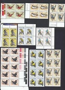 Stamps Australia 1979-1984 bird series group of 130+ perfin VG some blocks etc