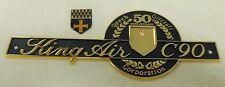 Beechcraft - King Air - C90 - Emblem P/N: 90-000061-1 and Crest P/N: 58-530227-3