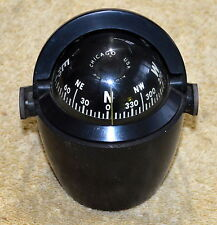 VINTAGE AIRGUIDE CHICAGO MARINE COMPASS WITH SUN SHADE AND MOUNTING BRACKET