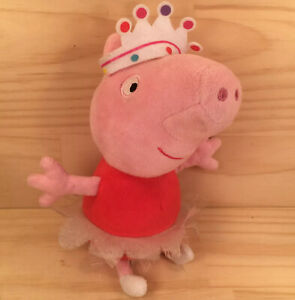 """BALLERINA PEPPA """"Pink"""" Awesome Children's Cartoon Pig Character Soft Toy Friend"""