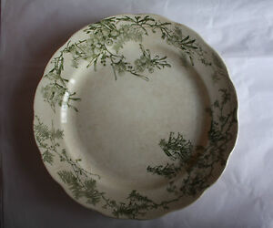 Doulton Burslem Serving Plate Green And White  Wattle188386 Made England1905