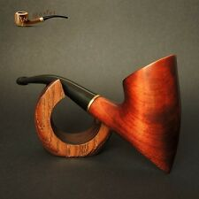 "Hand Made Unique Wooden Tobacco Smoking Pipe Pear "" Tomahawk "" Artisan job"