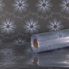 FLOWER PATTERN CLEAR CELLOPHANE WRAP 80CM X 1M - 100 METERS - DELIA DESIGN
