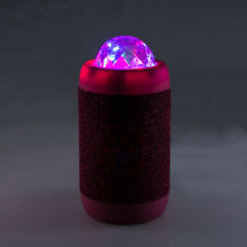 PINK Disco Ball Wireless Bluetooth Stereo Speaker projects Coloured Lights