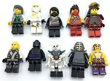 LEGO LOT OF 10 NINJAGO MINIFIGURES KAI GARMADON SKELETON ZANE DX COLE VARIETY