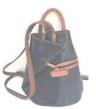 BLUE TAN LEATHER BACKPACK PURSE HANDMADE IN ITALY FLORENCE