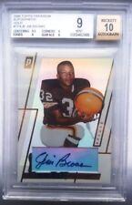 JIM BROWN SIGNED 2006 TOPPS PARADIGM GOLD FOOTBALL CARD~FOOTBALL HOF AUTO~MINT 9
