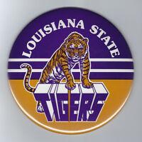 "1980's LSU Tigers 6"" button HUGE vintage pin rare NCAA Football Louisana State"
