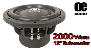 """12"""" INCH 2000 WATTS 4 OHM DUAL VOICE COIL BASS CAR SUBWOOFER HEAVY DUTY Extreme!"""
