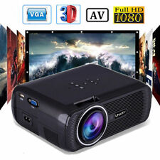 7000 Lumens Uhappy LED 1080P Projector Home Cinema Multimedia HDMI/USB/TV/VGA/AV