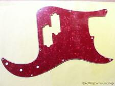 Precision bass guitar Pickguard Scratch Plate Red pearloid Pearl pick guard-d PB
