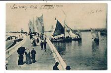 CPA-Carte Postale-Belgique  Oostende- L'estacade  et les petits voiliers en 1920