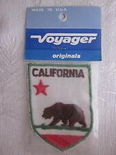 Vintage Classic Embroidered California Flag Patch Voyager NOS Made in USA