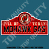 VINTAGE MOHAWK GASOLINE Decal Sticker Vintage Petrol Americana Garage Stickers