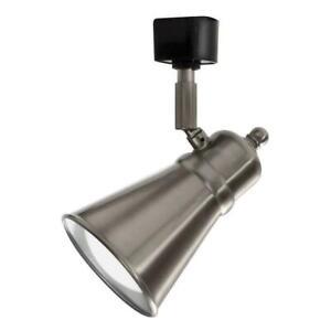 "Lithonia Lighting 7""1 LED Lamp Shade Track Head, With Bulb Brushed Nickel Finish"
