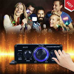 400W Mini HiFi Digital Bluetooth Stereo Audio Amplifier Radio Mic Car Home Use~