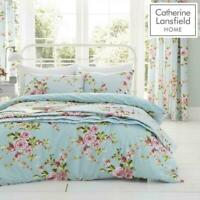 Catherine Lansfield Canterbury Floral Multi/Duckegg Quilt/Duvet Cover Collection