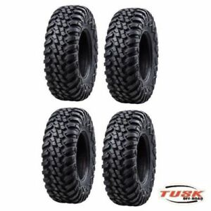 Tusk Terrabite Radial Atv Utv Tire Kit Set Of Four 4 Tires 28x10-14 Dot