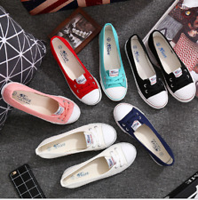 Fashion Women Canvas Flats Loafers Casual Breathable Flats Slip Comfy Shoes