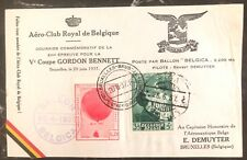 1937 Bruxelles Belgium Balloon AirMail Flight Sheet Cover To Riga Latvia