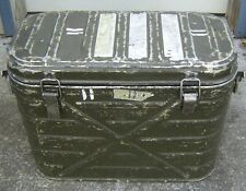 US Army Military Insulated Hot Cold Food Container Cooler Metal Box Can #1