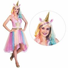 Adult Ladies Mystic Unicorn Magic Rainbow Fairytale Fantasy Fancy Dress Costume