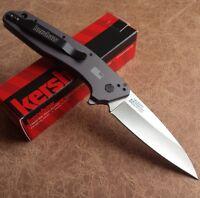 Kershaw Dividend Folding Knife 420HC Steel Blade Gray Anodized Aluminum Handle