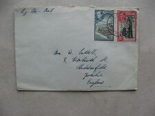 CEYLON, cover to England, harbour rubber tree
