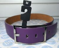 """Skinny Leather Belt damas y para hombres Color Rojo 22mm X 100cm de Largo Talla M 31-36/"""""""