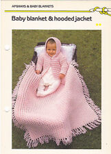 Crochet Pattern ~ BABY BLANKET & HOODED JACKET Afghan ~ Instructions