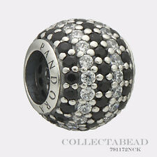 Authentic Pandora Sterling Silver Black Nautical Pave Lights Bead 791172NCK