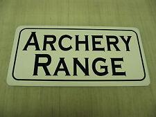 ARCHERY RANGE Sign 4 Hunting Room Gun Shop Bow Club, Man Cave or Bar