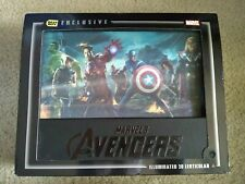 (Used) The Avengers 3D Best Buy Exclusive Gift Set Blu-ray -Book-Cover Lights Up