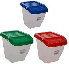 3 x 30L riciclaggio Plastica Cestino Lavanderia impilabile cucina riciclare Scatola Coperchio Incernierato