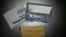 Owl Platinum Credit Card Size Magnifier And Light (X2)