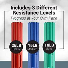 LoGest Twist Hand Exerciser Bars - 3 Piece Flexible Bars Strengthener Set - Tenn