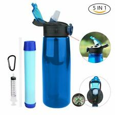22OZ Water Bottle with Filter Portable Filtered Water Purifier for Backpacking T