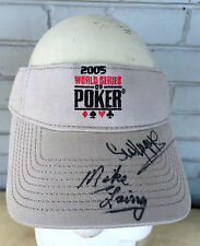 World Series of Poker 2005 Las Vegas Autographed Visor Cap Hat