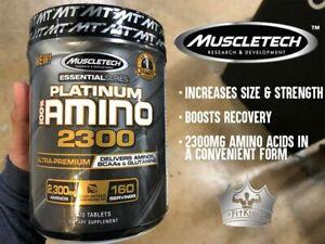 MuscleTech Platinum AMINO 2300 - 8 ESSENTIAL AMINO ACIDS + L-Arginine and More!